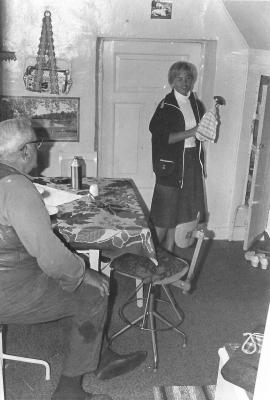 Köket 1975. Husarn och Ingrid Håkansson