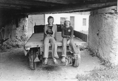 Fredrik och Magdalena 1975 under \'trösken\'.