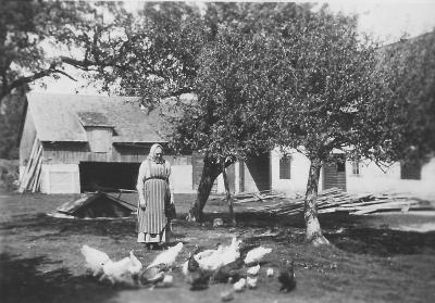 Troligtvis Tant Lovisen (Lovisa Häglund). 20-talet.