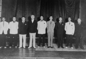 Andy Arcari, Frank Gaviani, Charles Daloisto, Pietro Deiro, Gene von Hallberg, Magnantes bassplayer, Joe Biviano, Abe Goldberg.