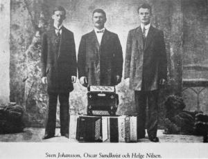 Sven Johansson, Oscar Sundkvist, Helge Nilsen